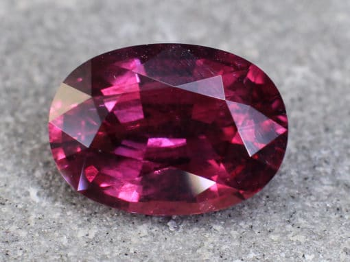 2.12 ct red oval ruby