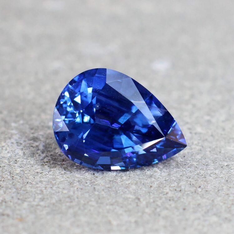 2.52 ct blue pear sapphire