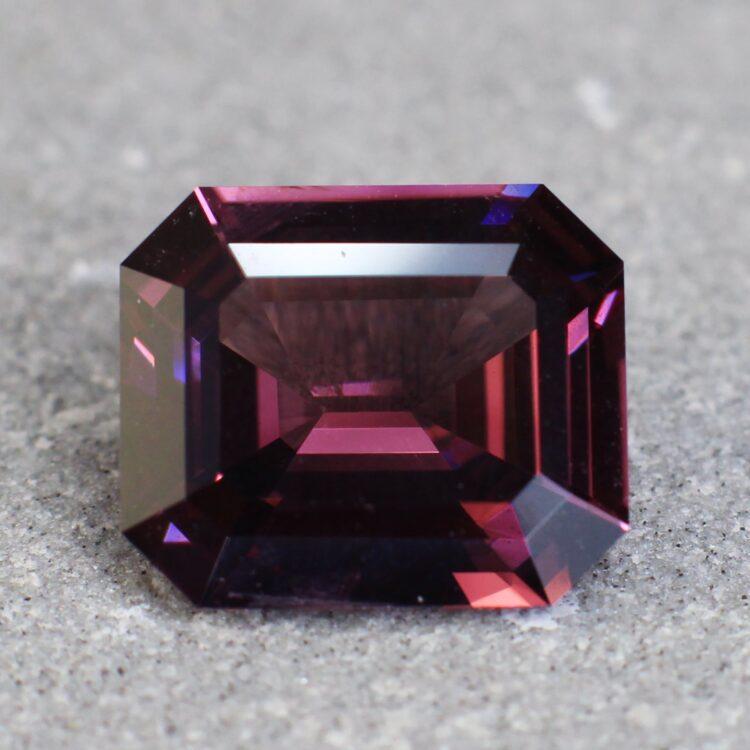 2.74 ct purple octagon sapphire