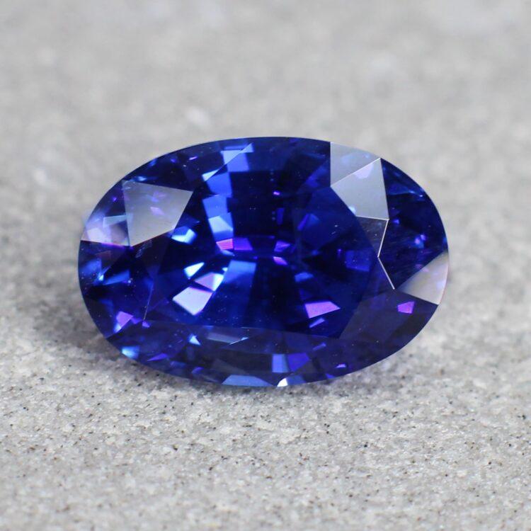 3.36 ct vivid blue oval sapphire