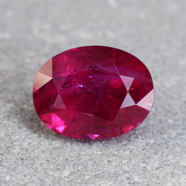 4.14 ct red oval ruby