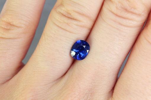 Blue Cushion Sapphire
