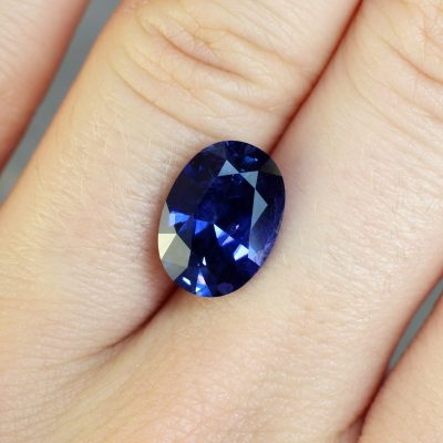 Blue/Violet Oval Sapphire