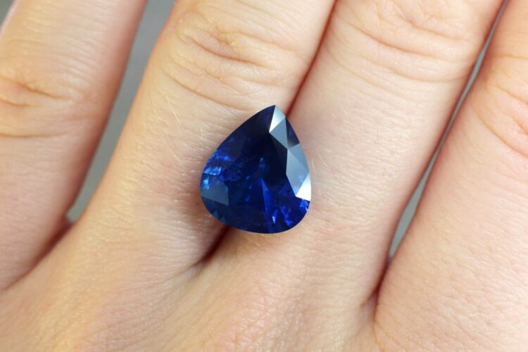 8.73 ct blue pear sapphire