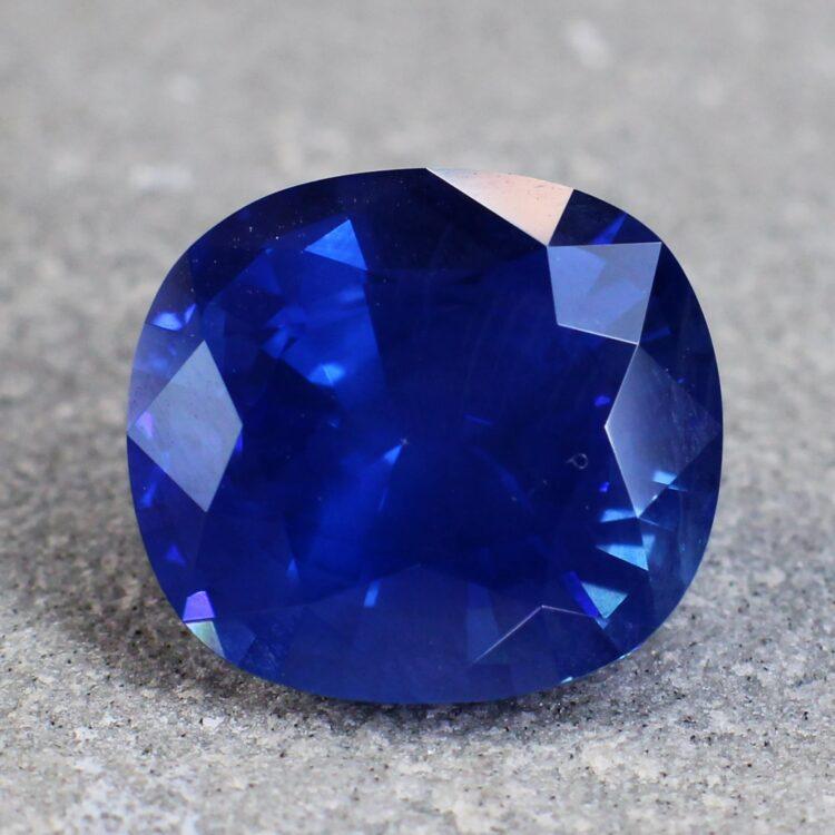 8.53 ct vivid blue cushion sapphire