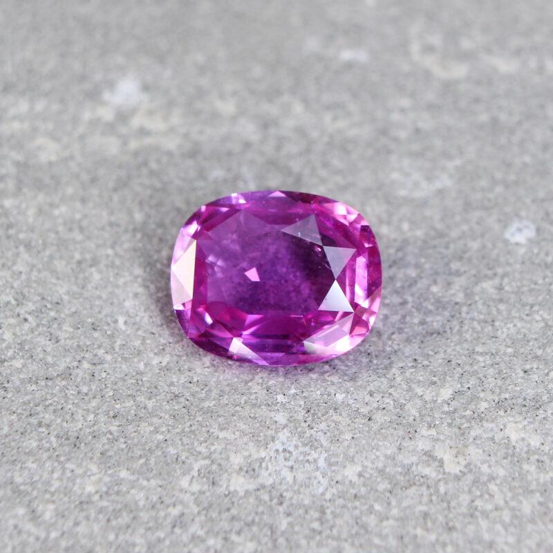 2.68 ct pink cushion sapphire