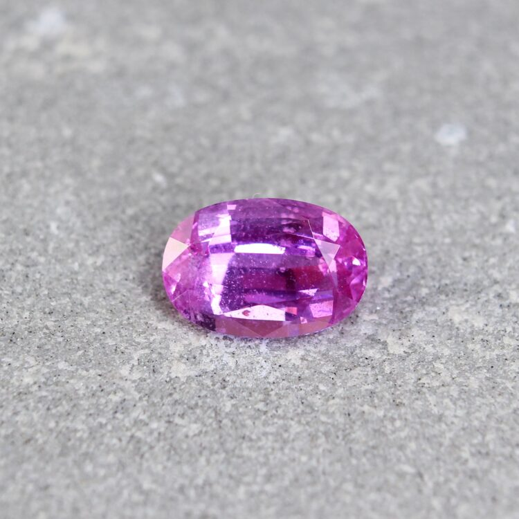 2.07 ct pink oval sapphire