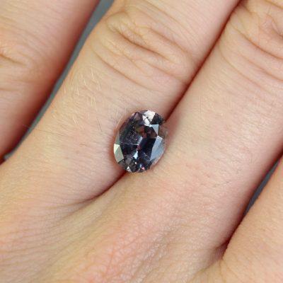 2.06 ct greyish green oval sapphire