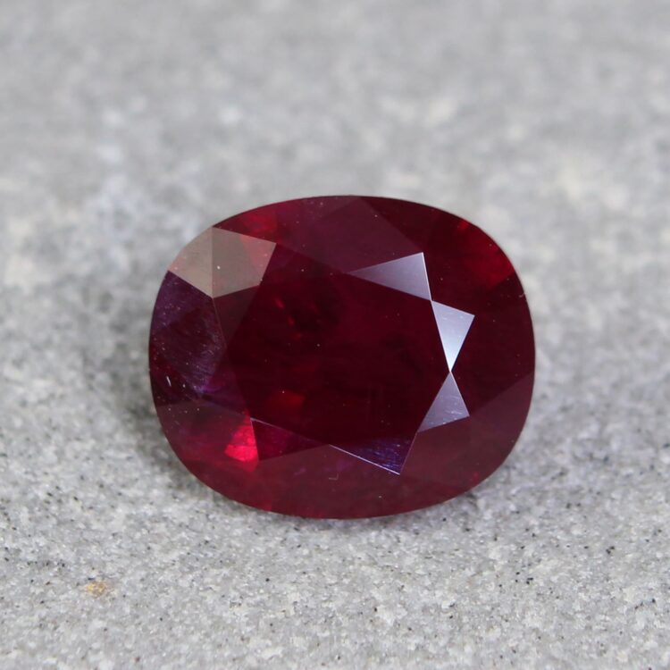 2.16 ct red cushion ruby
