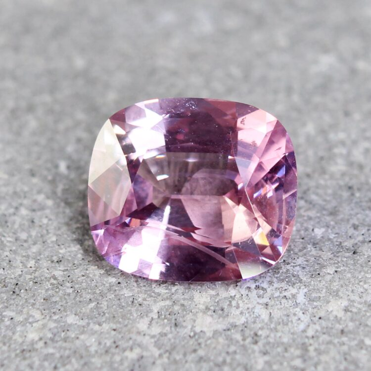 1.96 ct pink cushion sapphire