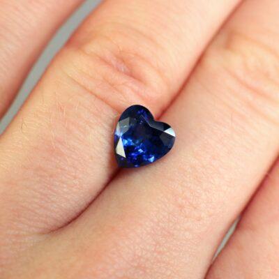 2.44 ct blue heart shape sapphire