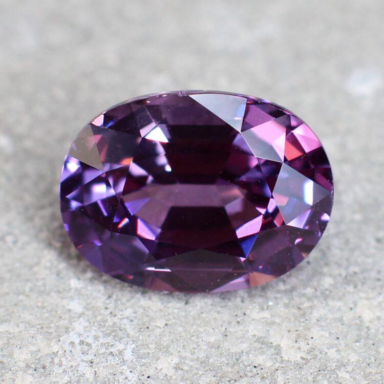 3.06 ct purple oval sapphire