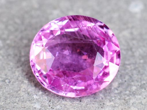 2.27 ct pink oval sapphire