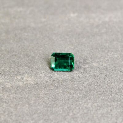 0.62 ct green octagon emerald