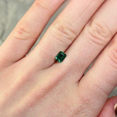 0.62 ct green octagon emerald