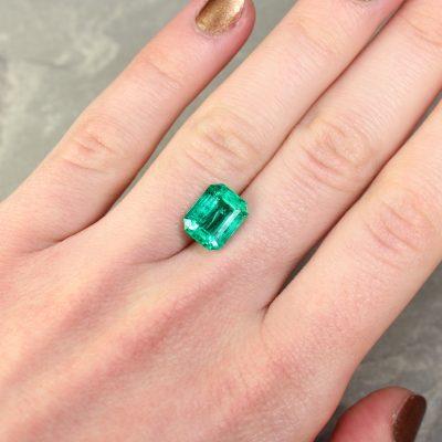 3.62 ct green octagon emerald