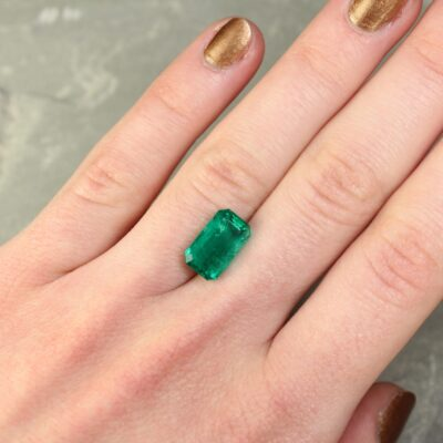 4.12 ct green octagon emerald