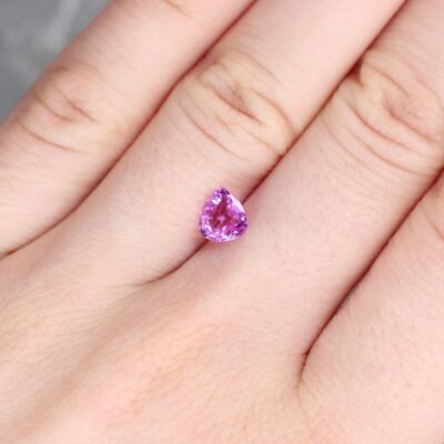 1.13 ct pink pear shape sapphire