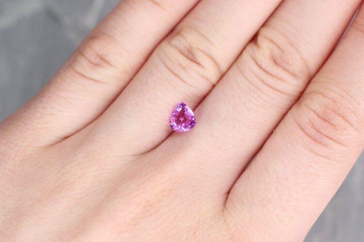 1.13 ct pink pear shape sapphire