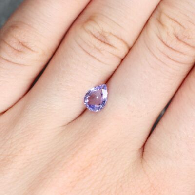 1.15 ct pear shape purple sapphire