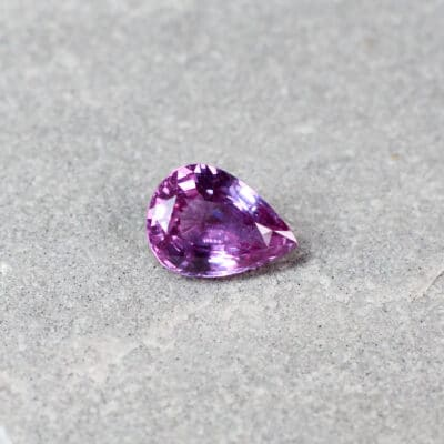 1.23 ct pink pear shape sapphire