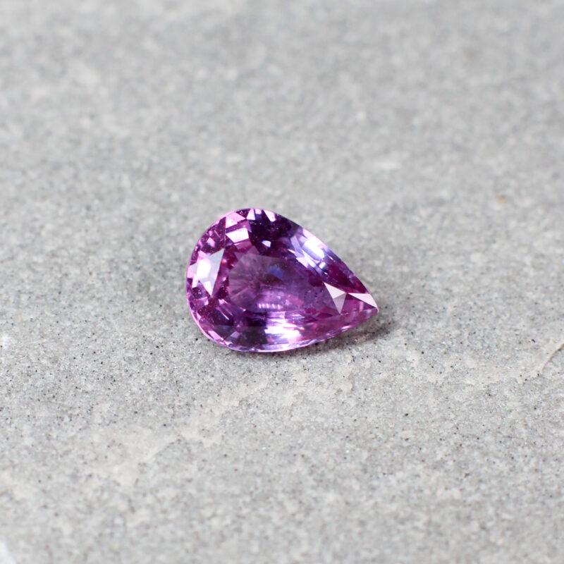1.23 ct pink pear shape sapphire