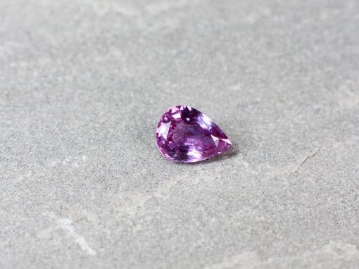 1.23 ct pear shape pink sapphire
