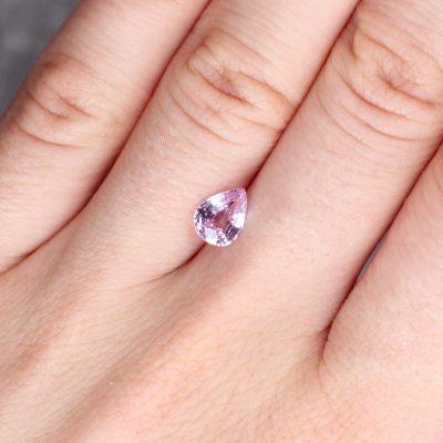 1.28 ct light pink pear shape sapphire