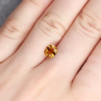 1.46 ct yellowish orange cushion sapphire