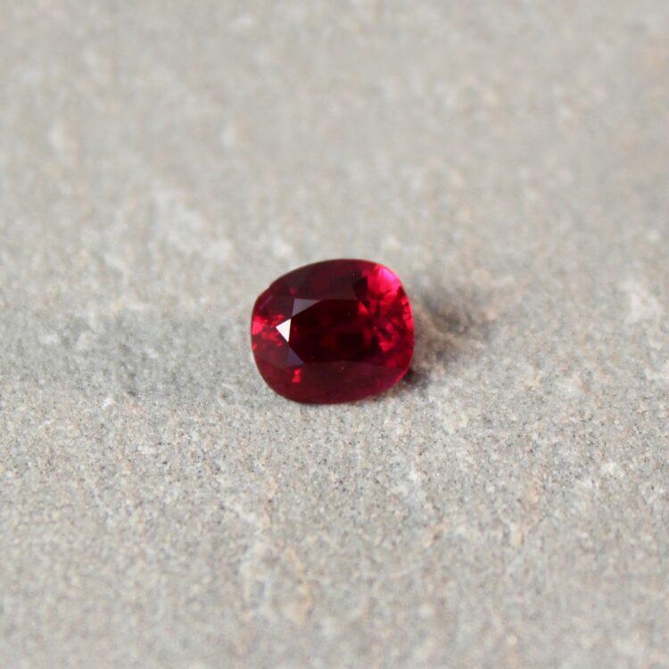 2.03 ct vivid red cushion ruby