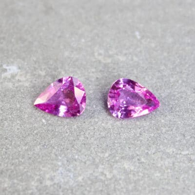 2.82 ct pink pear shape sapphire pair