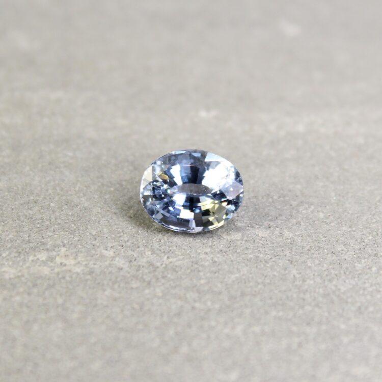 2.94 ct light blue oval sapphire