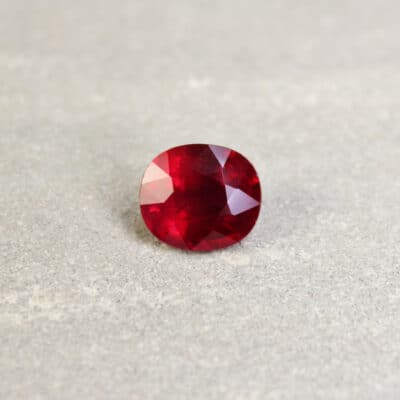3.03 ct red oval ruby