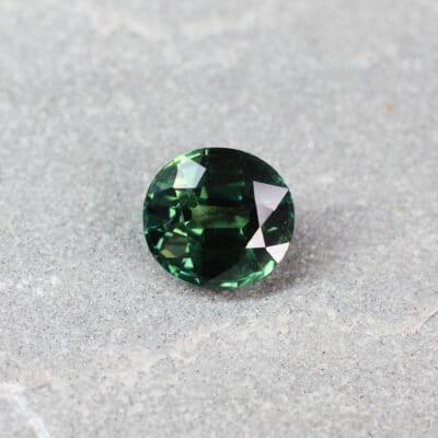 3.51 ct bluish green oval sapphire