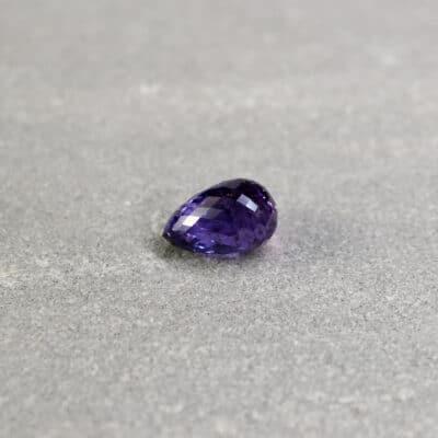 3.24 ct purple briolette sapphire