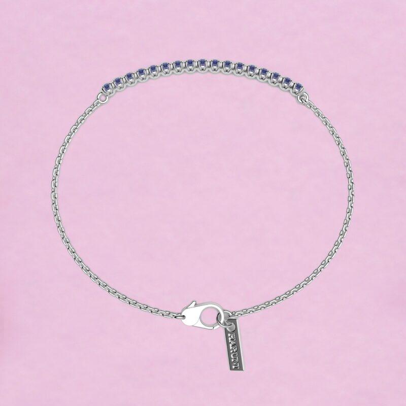 blossom bracelet – sky blue sapphire and 18k white gold
