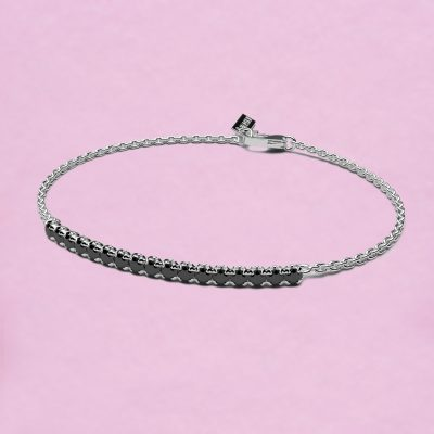 blossom bracelet – black diamond and 18k white gold