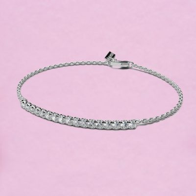 blossom bracelet – white diamond and 18k white gold