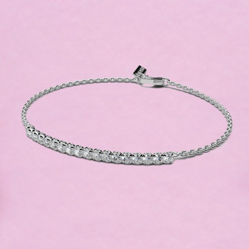 blossom bracelet – white diamond and 18k white gold