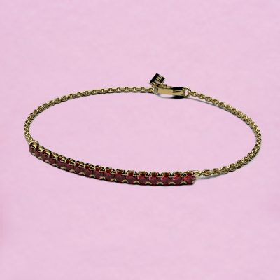 blossom bracelet – ruby and 18k yellow gold