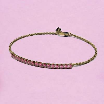 blossom bracelet – pink sapphire and 18k yellow gold