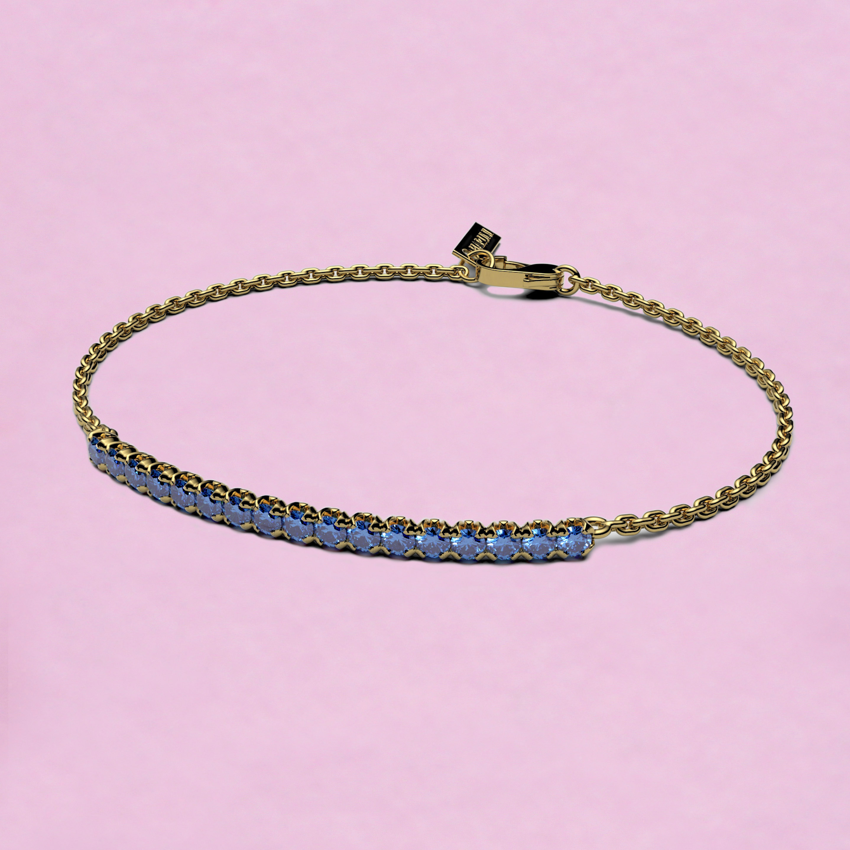 blossom bracelet – cornflower blue sapphire and 18k yellow gold