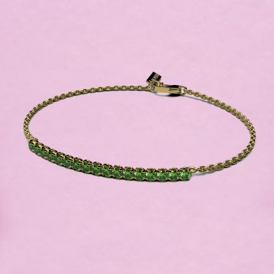 blossom bracelet – tsavorite garnet and 18k yellow gold