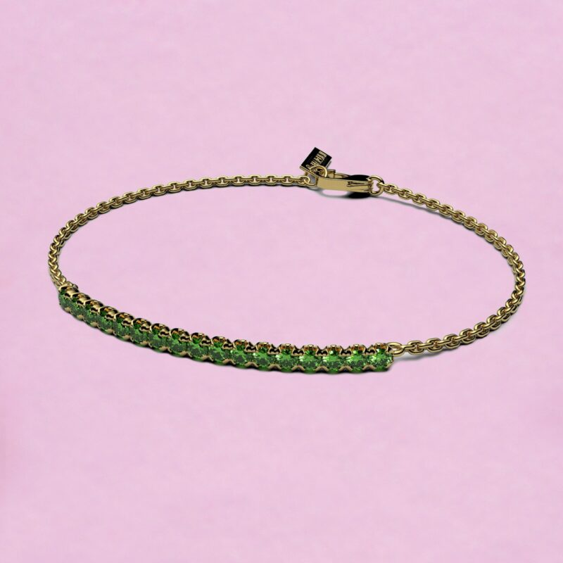 blossom bracelet – tsavorite garnet and 18k yellow gold