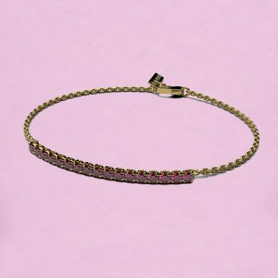 blossom bracelet – fuchsia pink ruby and 18k yellow gold