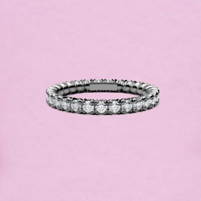 blossom eternity ring - white diamond and 18k white gold