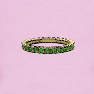 blossom eternity ring - tsavorite garnet and 18k yellow gold