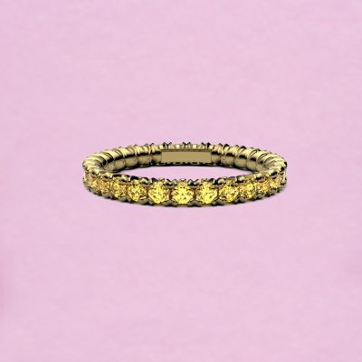 blossom eternity ring - yellow sapphire and 18k yellow gold