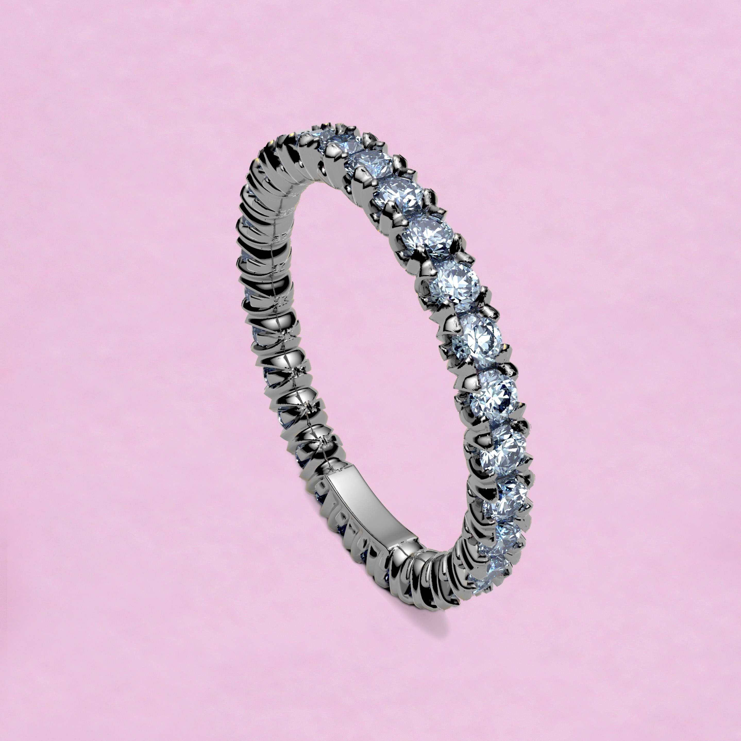 blossom eternity ring - ice white blue sapphire and 18k white gold