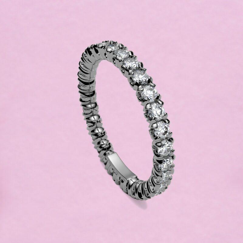 blossom eternity ring - white diamond and 18k white gold